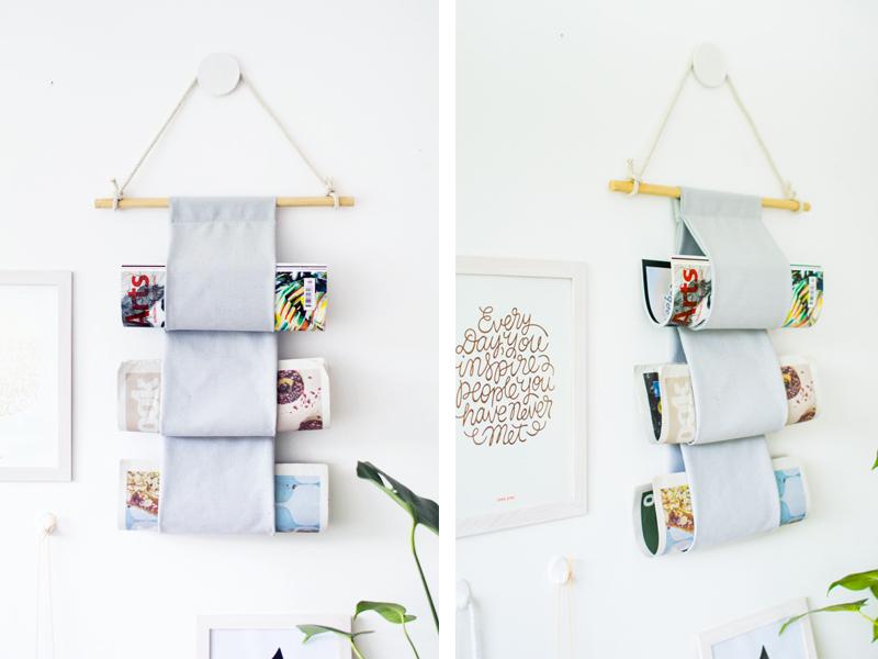 DIY: Tự làm giá treo tạp chí xinh xắn trang trí phòng khách
