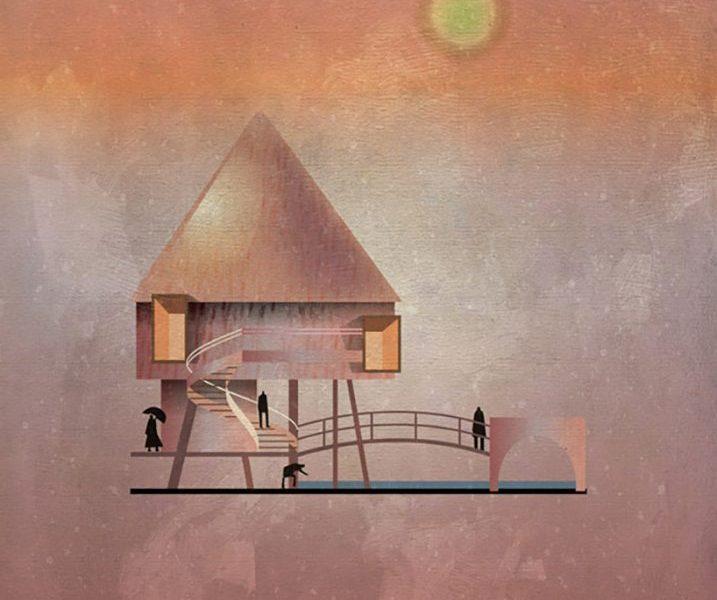 Federico Babina ghi lại phong cách của các hoạ sĩ nổi tiếng qua dự án minh hoạ kiến trúc thú vị