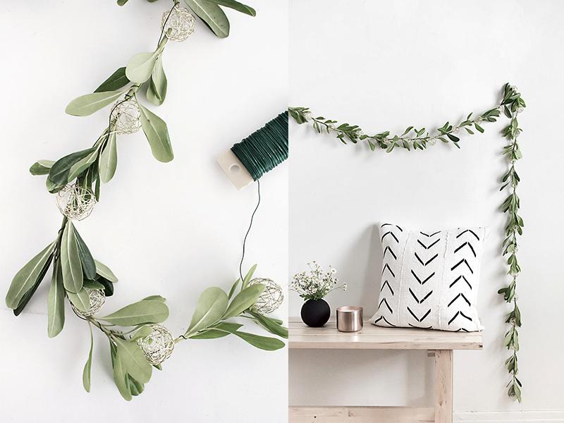 DIY – Tự làm dây đèn từ lá olive trang trí nhà cửa đón thu