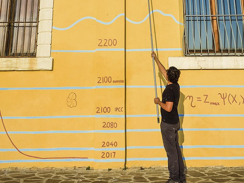 Thông điệp về biến đổi khí hậu qua tác phẩm nghệ thuật tại Venice