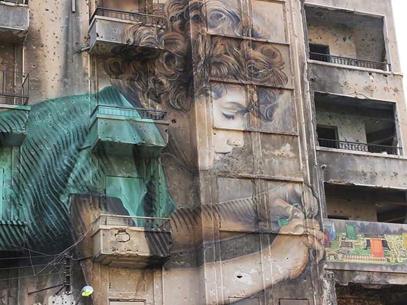 Jorge Rodriguez Gerada và BAD hồi sinh Beirut bằng bức tranh tường đặc biệt