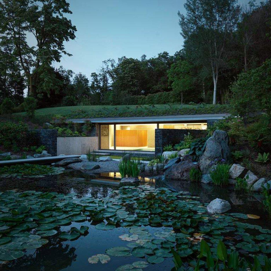 nhà bên hồ nước hình 7