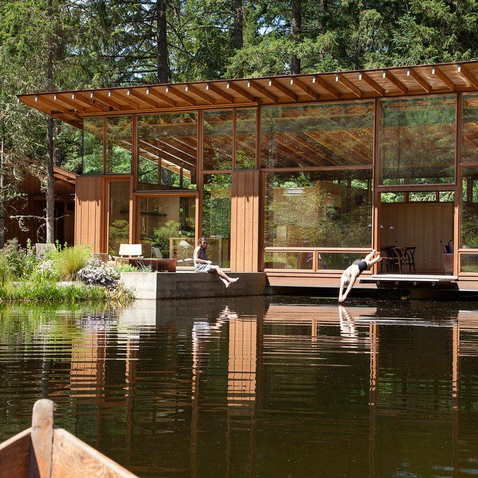 nhà bên hồ nước hình 6