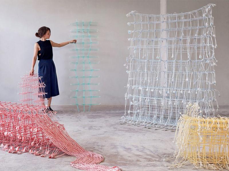 Điêu khắc từ vật liệu thiên nhiên và nhựa tái chế của Fransje Gimbrere