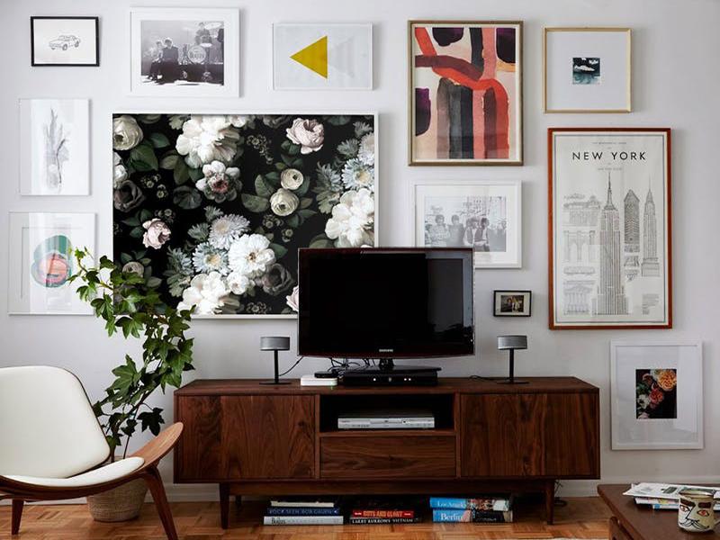 Biến hóa khung ảnh treo tường với 8 ý tưởng mới lạ