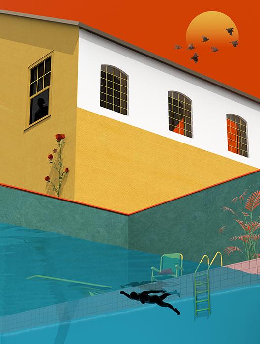 tranh vẽ kiến trúc 7