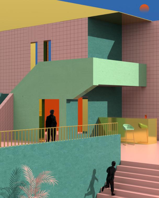 tranh vẽ kiến trúc 6