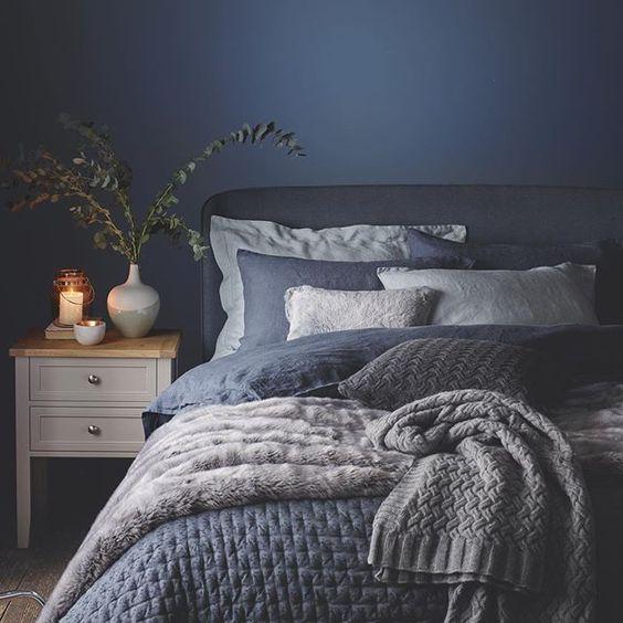 màu sơn phòng ngủ xanh dương