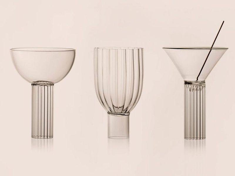 Hình ảnh kiến trúc Milan trong thiết kế ly cocktail thuỷ tinh của Augustina Bottoni