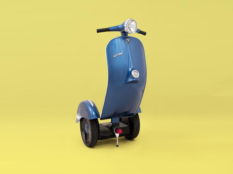 Xe Vespa phiên bản scooter điện thăng bằng của Bel and Bel