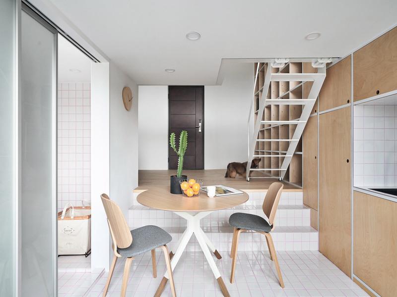 XS House - căn hộ nhỏ 33m2 gọn gàng, tươi xinh ở Đài Loan