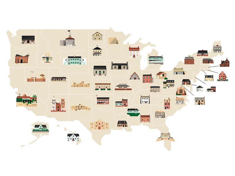 Điểm qua những công trình lâu đời bậc nhất tại 51 tiểu bang Mỹ