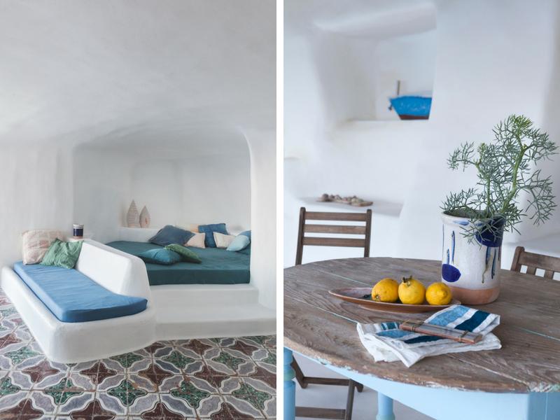 Kiến trúc Địa Trung Hải trong căn nhà hốc đá đẹp như mơ bên bờ biển Ý