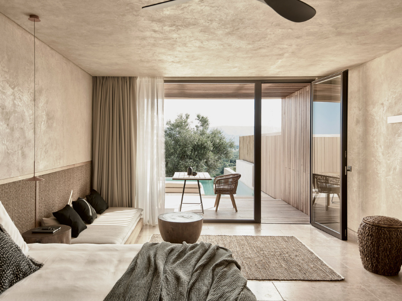 Chất mộc mạc, bình yên trong nội thất khách sạn Olea, Hi Lạp | Block722 Architects