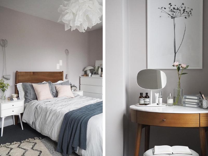 Before-After: phòng ngủ đẹp như mơ với gam màu phớt hồng tinh tế của NTK Cate St Hill
