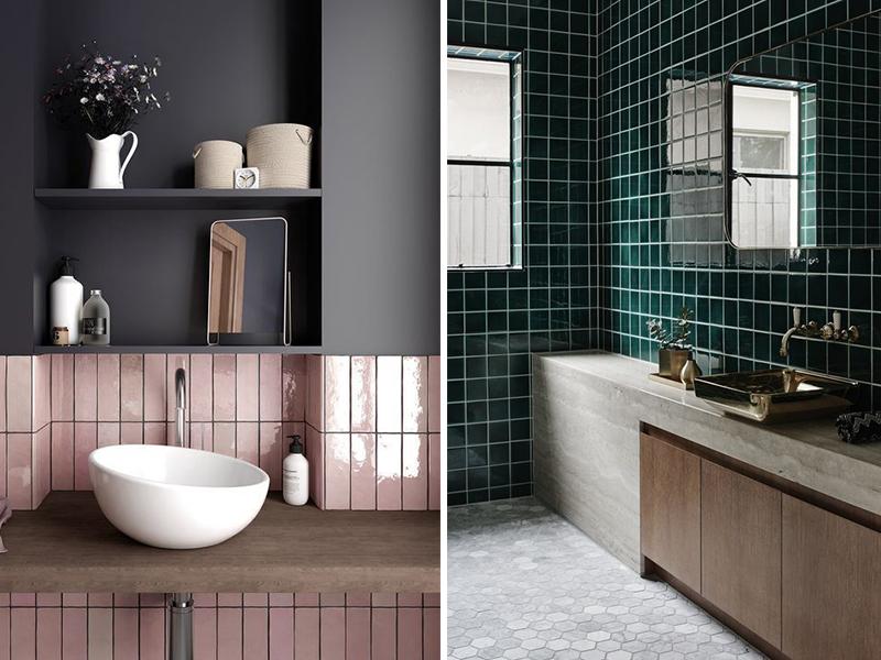 Sự trở lại của gạch men đơn sắc trong thiết kế WC | ED Trends