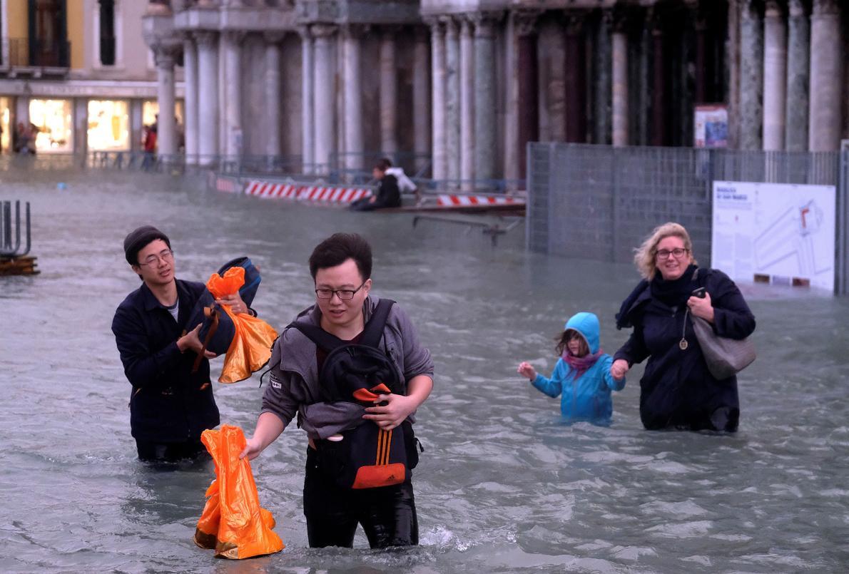 venice ngập lụt elledecoration