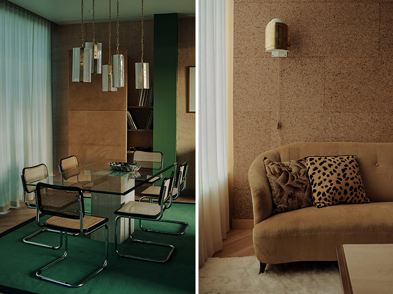 Không gian penthouse mang hoài niệm những năm 70s
