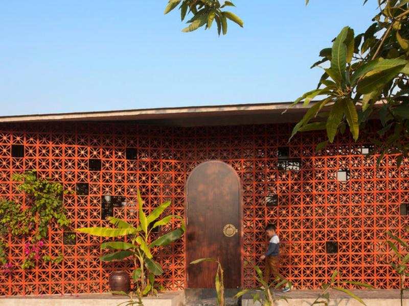 Maison A - Căn nhà thôn quê với bức tường ren nắng độc đáo ở Nam Định