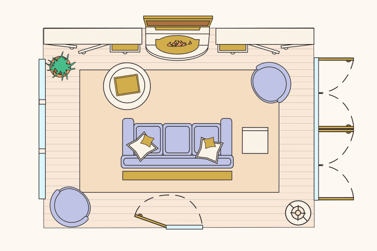 bố trí phòng khách 3