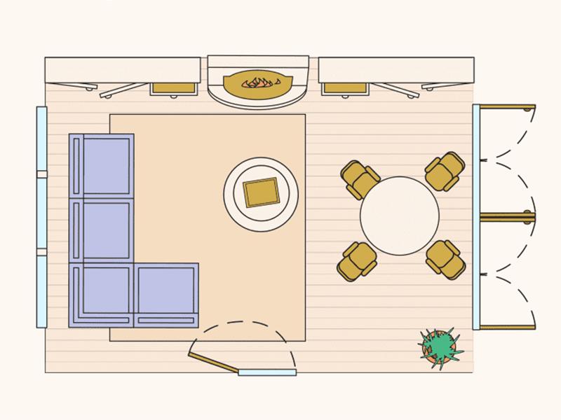 10 giải pháp bố trí phòng khách | ED Tips