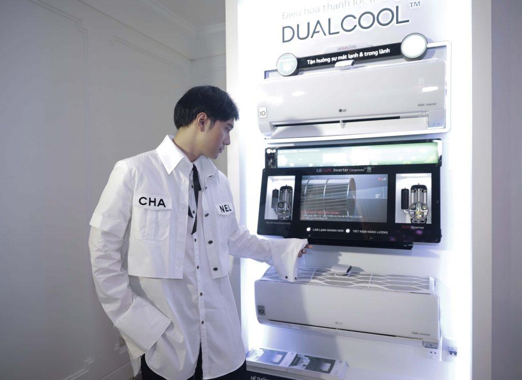 LG Dual Cool Inverter có thiết kế thanh lịch, tối giản và thông minh.