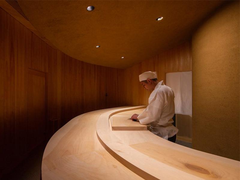 Nhà hàng sushi gói gọn trong 19 mét vuông
