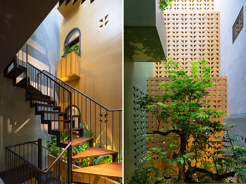 Khách sạn Deja Vu House - Lõi thông tầng đắt giá