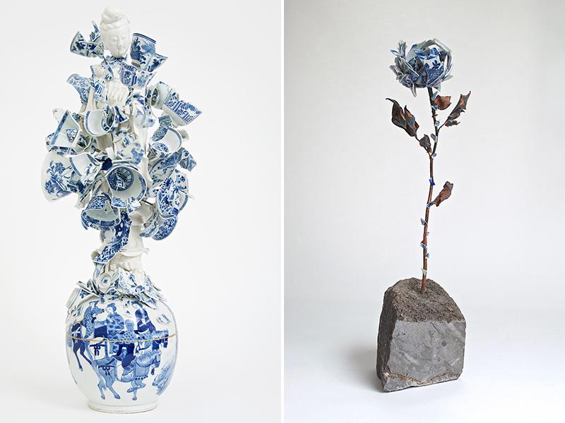 Những tác phẩm tạo hình từ mảnh gốm vỡ