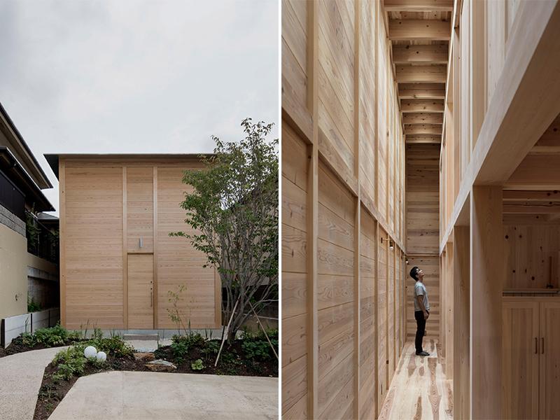 Ogimachi House - Giếng trời thay cửa sổ