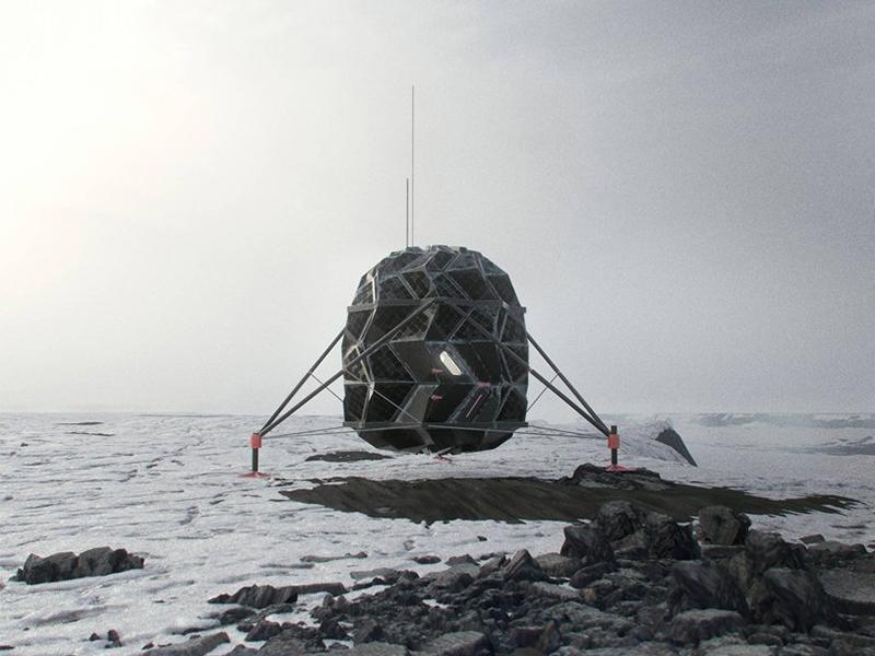 Không gian sống origami trên mặt trăng