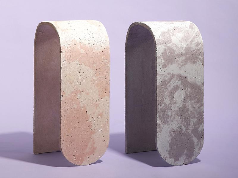 Concrete Stools - Bê tông và những khối màu pastel